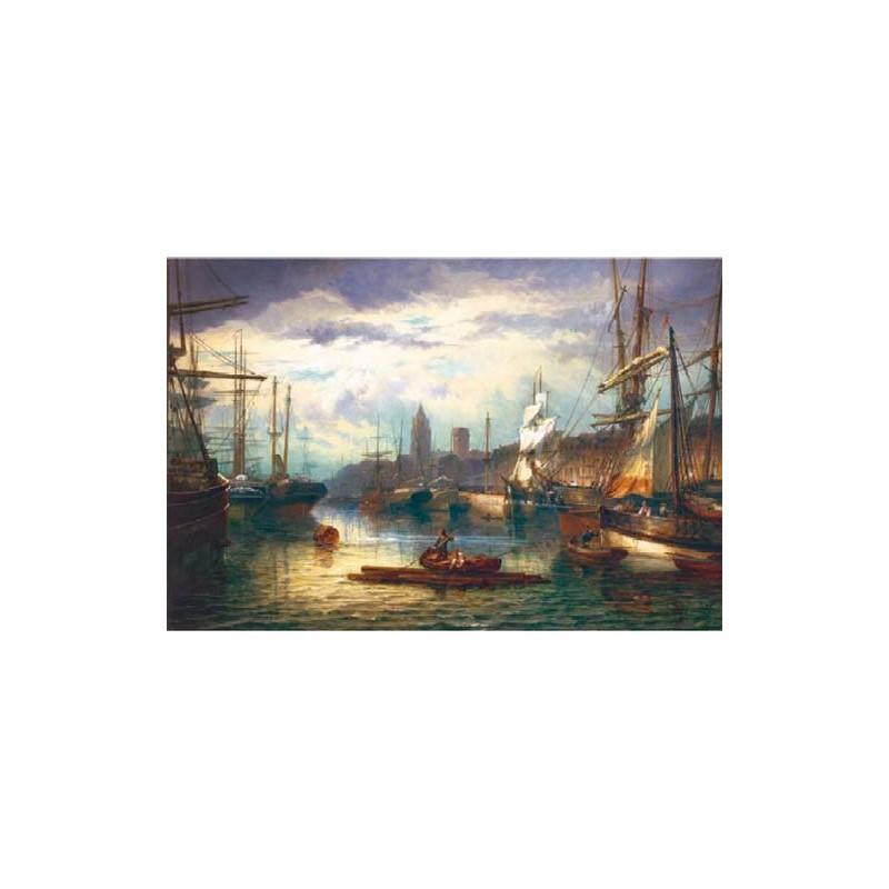 26059. Puzzle Trefl 1500 piezas Escena en el Puerto