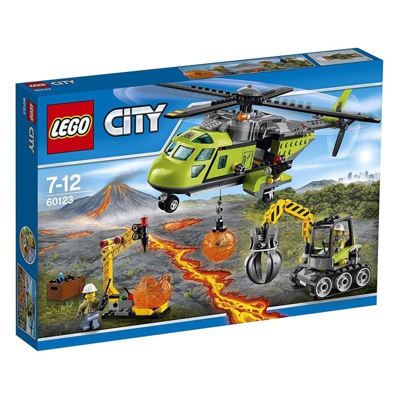 Lego 60123. Volcán: Helicóptero de Suministros Lego City