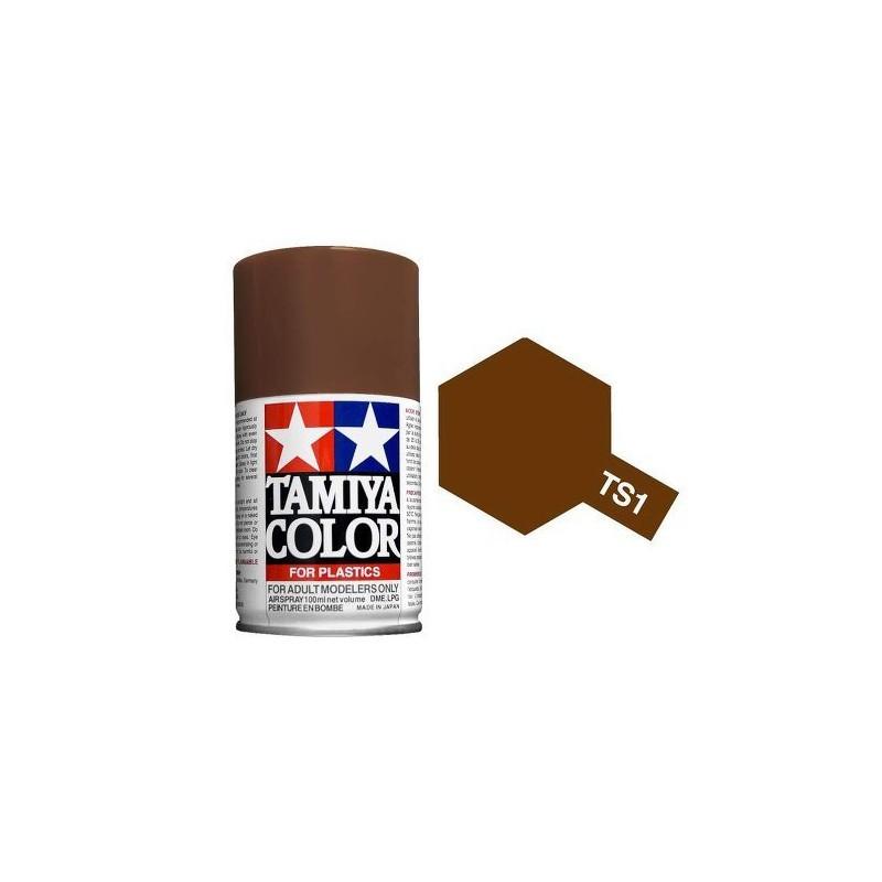 Tamiya 85001. Spray TS-59 Pintura Esmalte Rojo Pardo