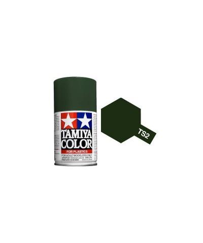 85002 Tamiya. Spray TS-2 Pintura Esmalte Verde Oscuro
