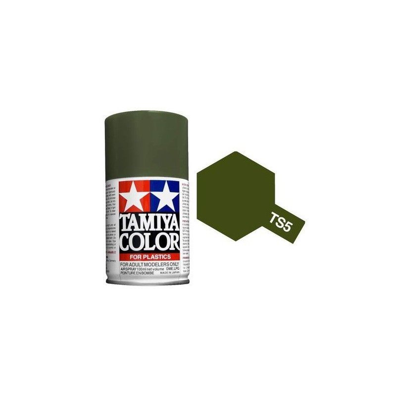 Tamiya 85005. Spray TS-5 Pintura Esmalte Verde Oliva