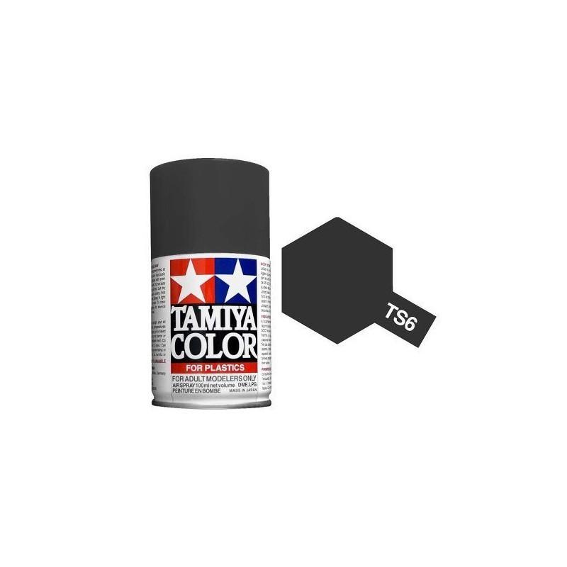 Tamiya 85006. Spray TS-6 Pintura Esmalte Negro Mate