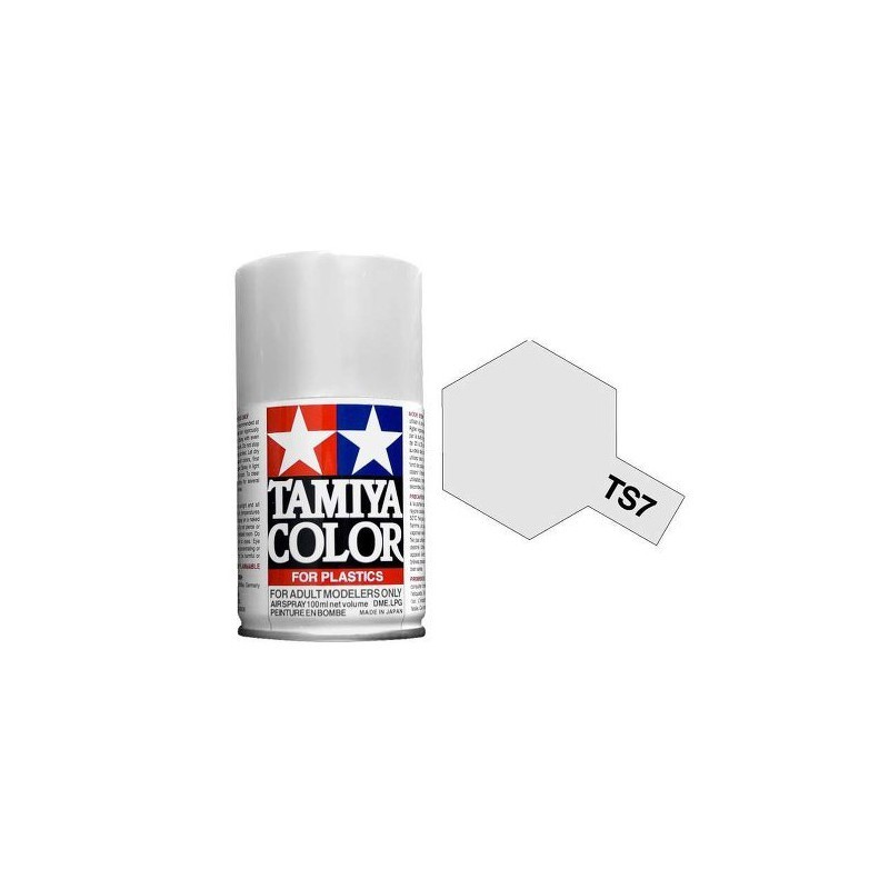 Tamiya 85007. Spray TS-7 Pintura Esmalte Blanco Racing