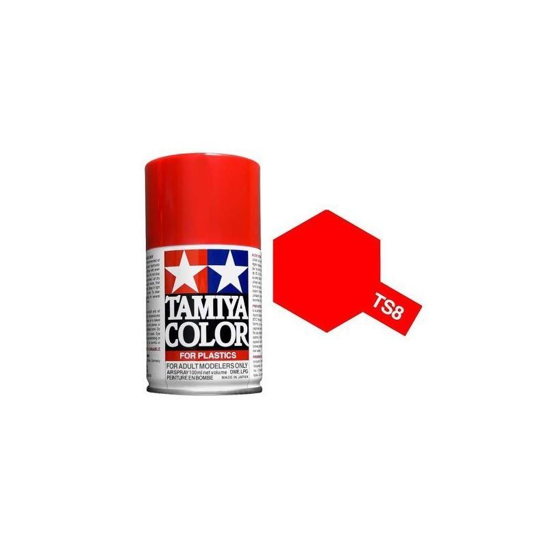 Tamiya 85008. Spray TS-8 Pintura Esmalte Rojo Italiano