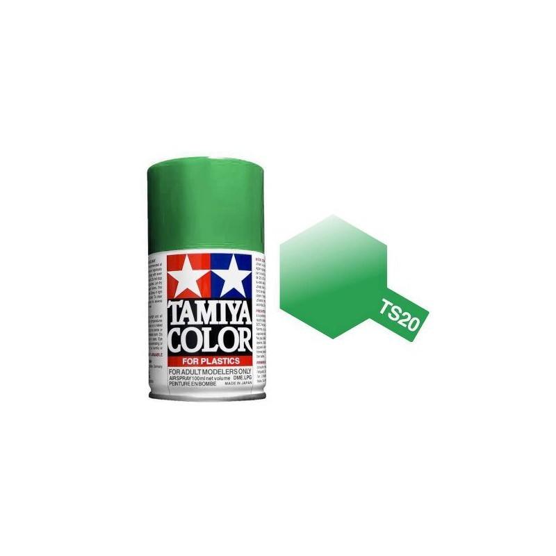 Tamiya 85020. Spray TS-20 Pintura Esmalte Verde Metalizado