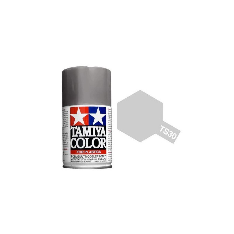 Tamiya 85030. Spray TS-30 Pintura Esmalte Aluminio
