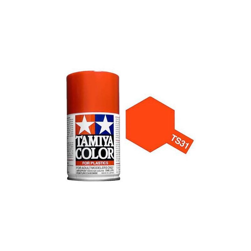 Tamiya 85031. Spray TS-31 Pintura Esmalte Naranja Brillante
