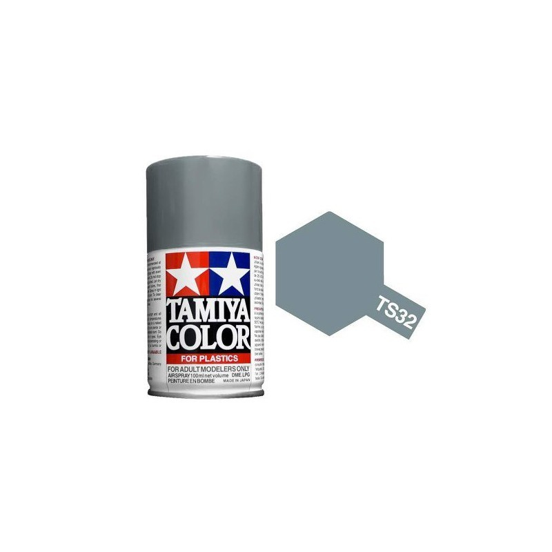 Tamiya 85032. Spray TS-32 Pintura Esmalte Gris Brumoso
