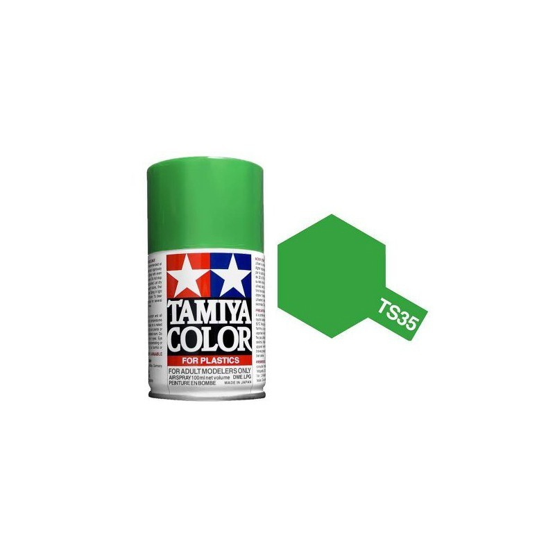 Tamiya 85035. Spray TS-35 Pintura Esmalte Verde Prado