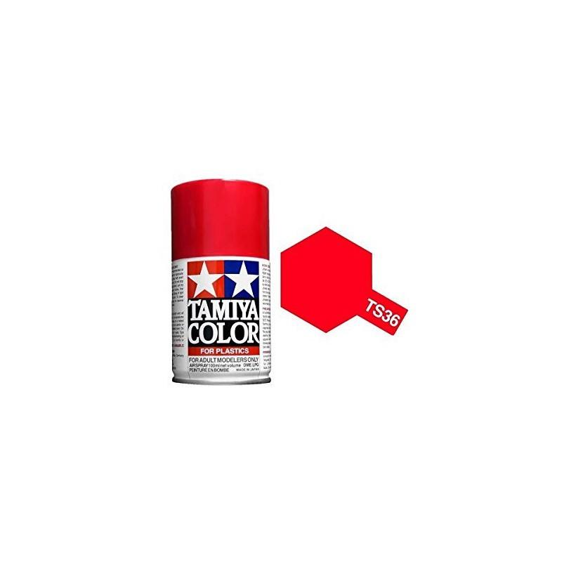 Tamiya 85036. Spray TS-36 Pintura Esmalte Rojo Fluorescente