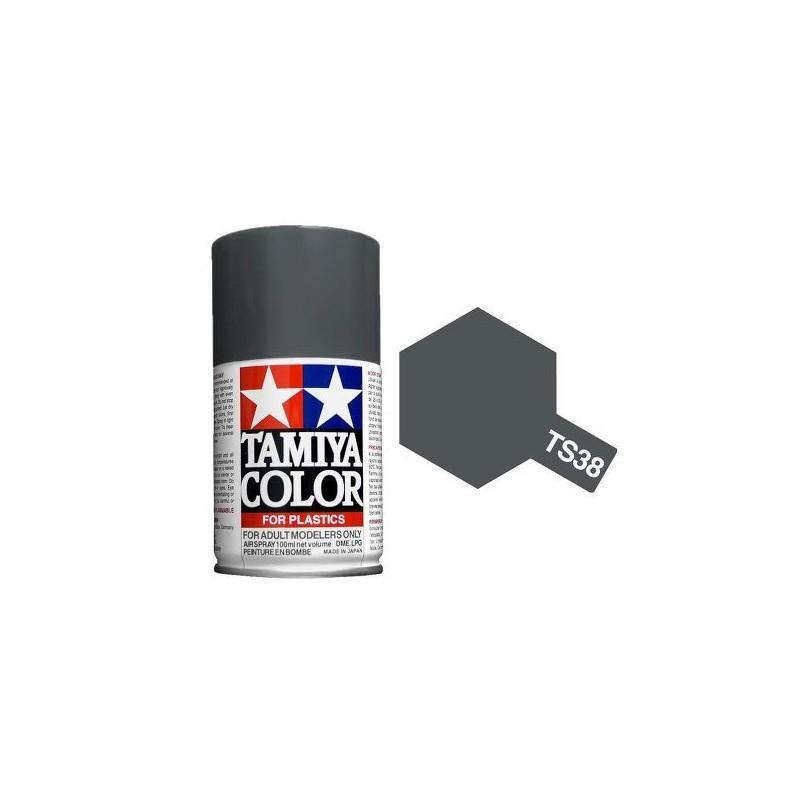 Tamiya 85038. Spray TS-38 Pintura Esmalte Gris Acero