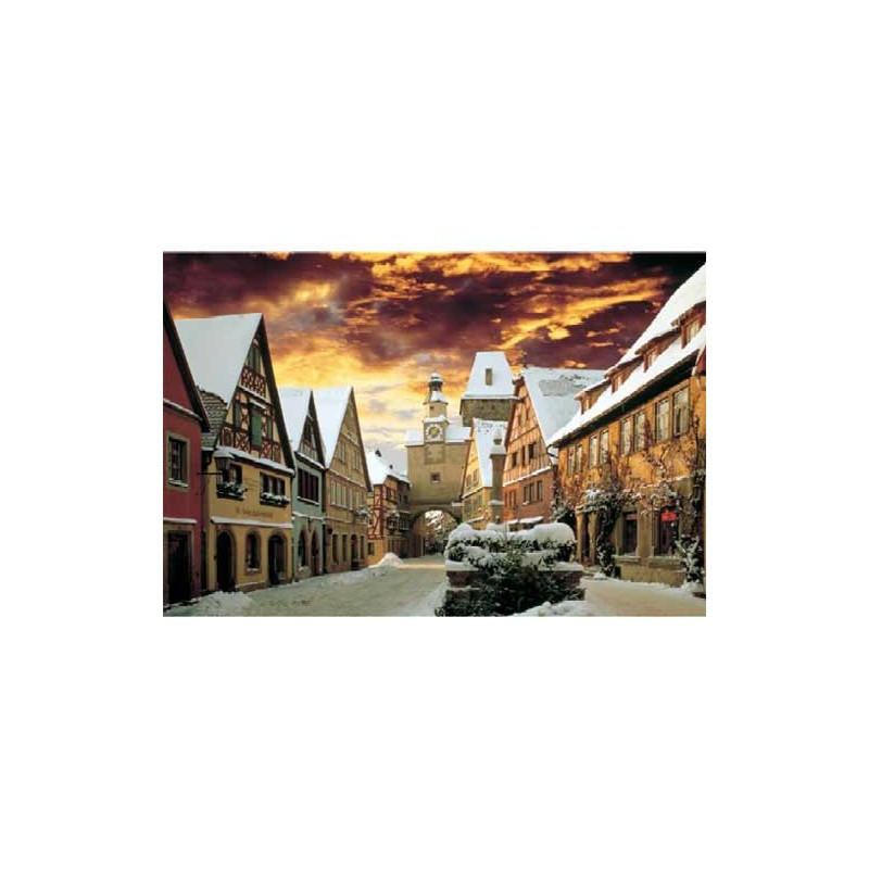 27016. Puzzle Trefl 2000 piezas Rothenburg Germany Winter