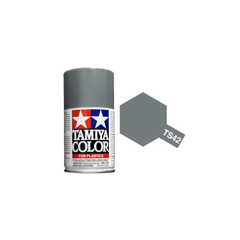 Tamiya 85042. Spray TS-42 Pintura Esmalte Gris Acero Claro