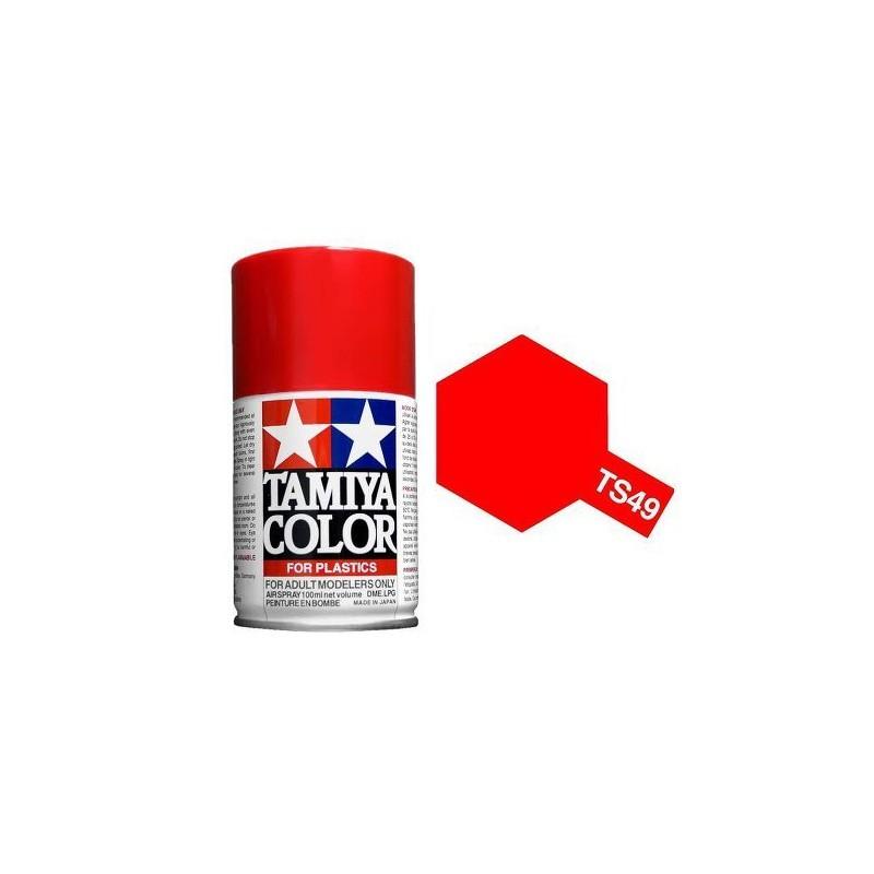Tamiya 85049. Spray TS-49 Pintura Esmalte Rojo Brillante