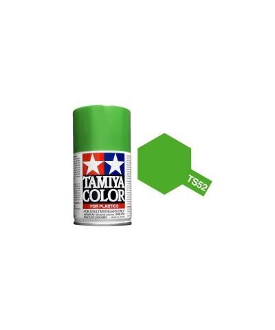 Tamiya 85052. Spray TS-52 Pintura Esmalte Candy Lime Green