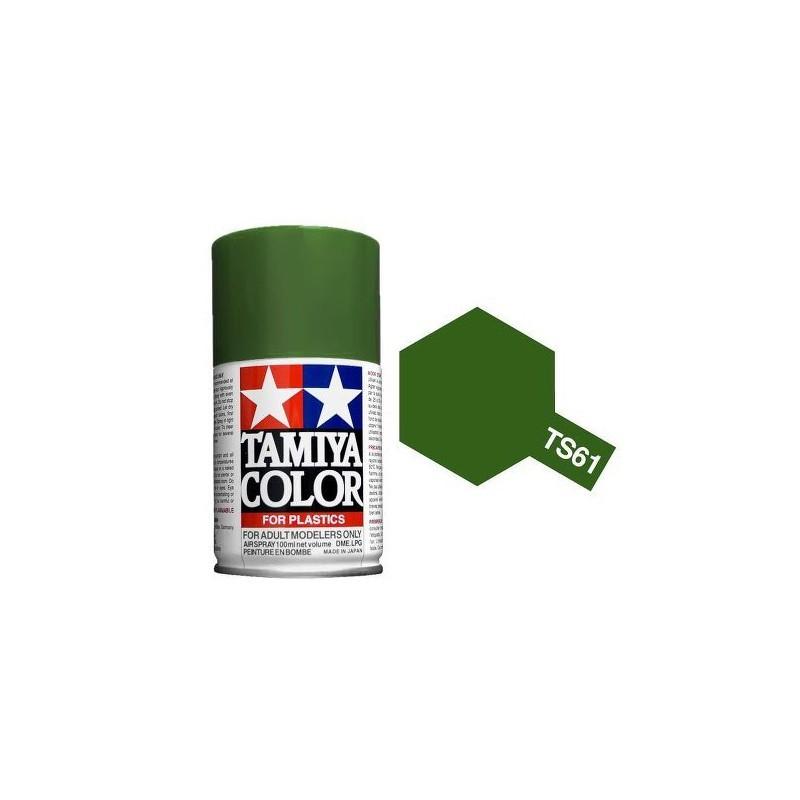 Tamiya 85061. Spray TS-61 Pintura Esmalte Verde Nato