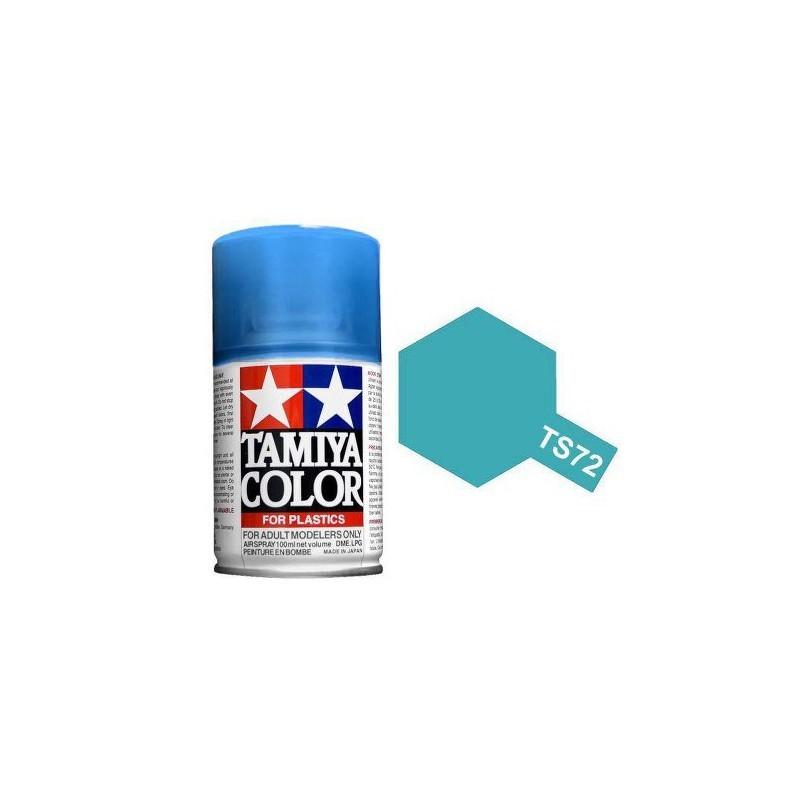 Tamiya 85072. Spray TS-72 Pintura Esmalte Azul Translúcido