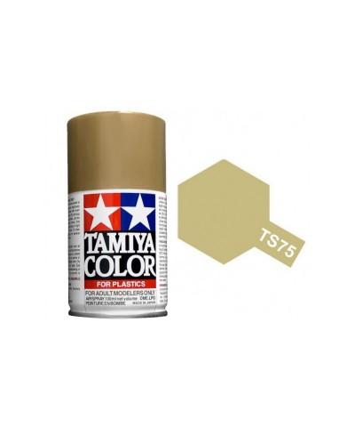 Tamiya 85075. Spray TS-75 Pintura Esmalte Dorado Champagne