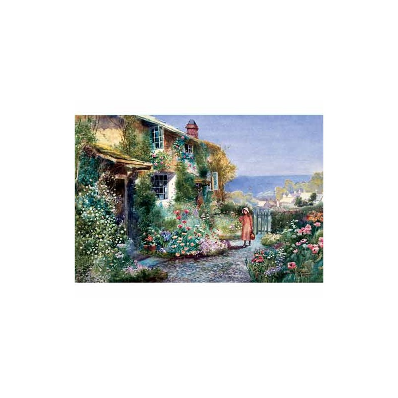 27018. Puzzle Trefl 2000 piezas House in the Garden