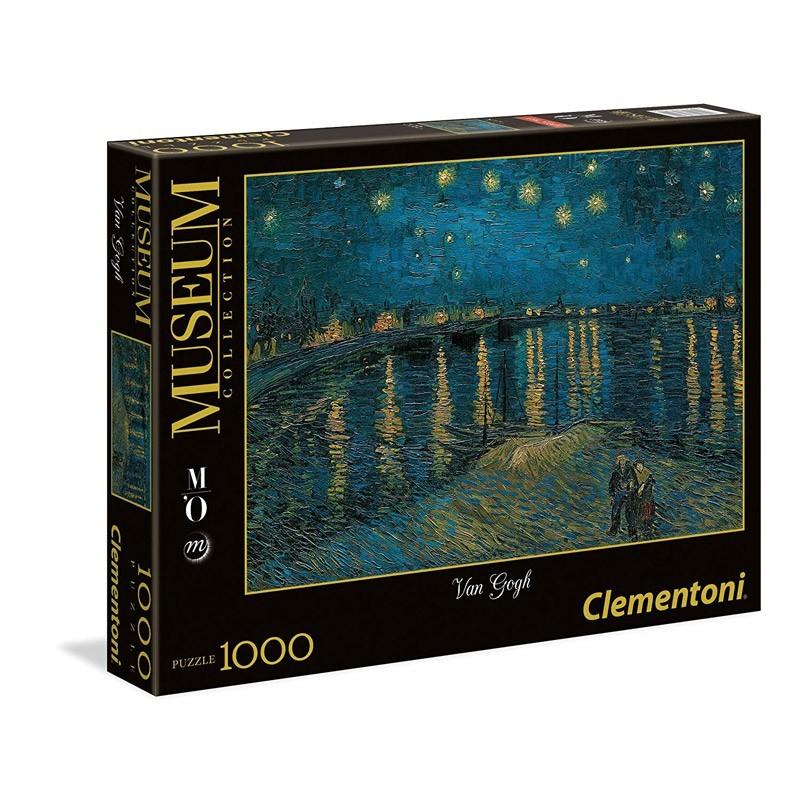 Clementoni 39344. Puzzle 1000 piezas Noche Estrellada Van Gogh