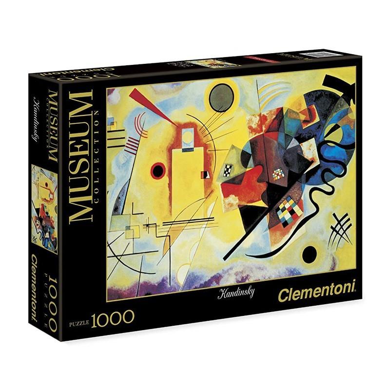 Clementoni 39359. Puzzle 1000 Piezas Amarillo Rojo y Azul Puros Kandinsky