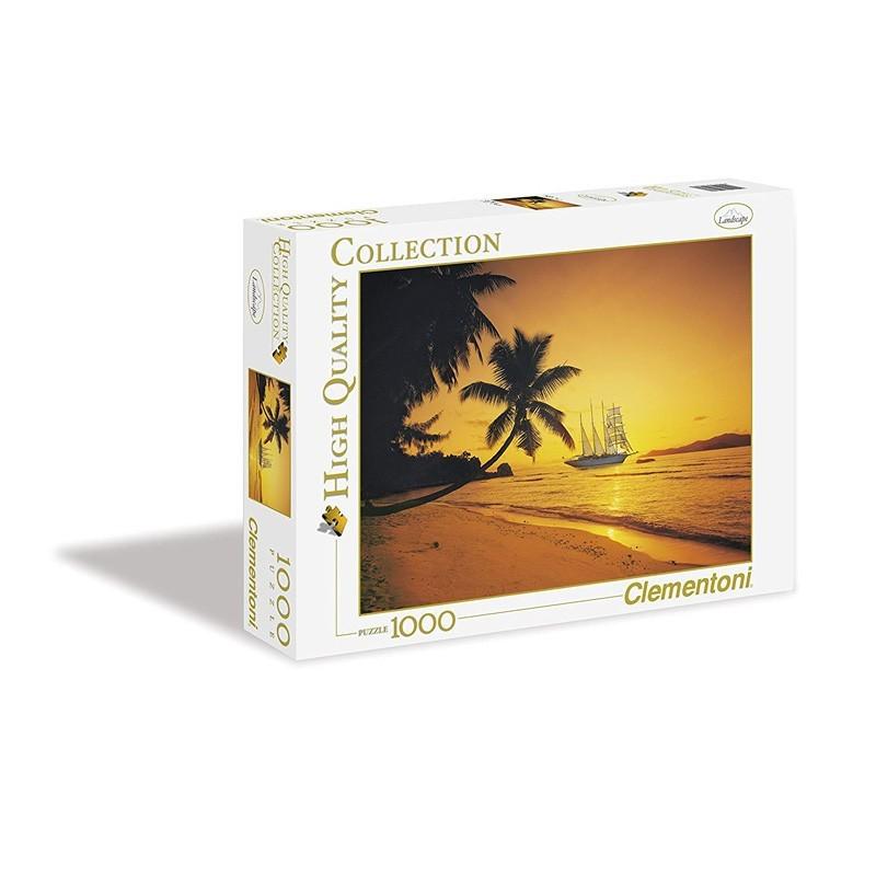 Clementoni 39235. Puzzle 1000 Piezas Atardecer en Las Seychelles