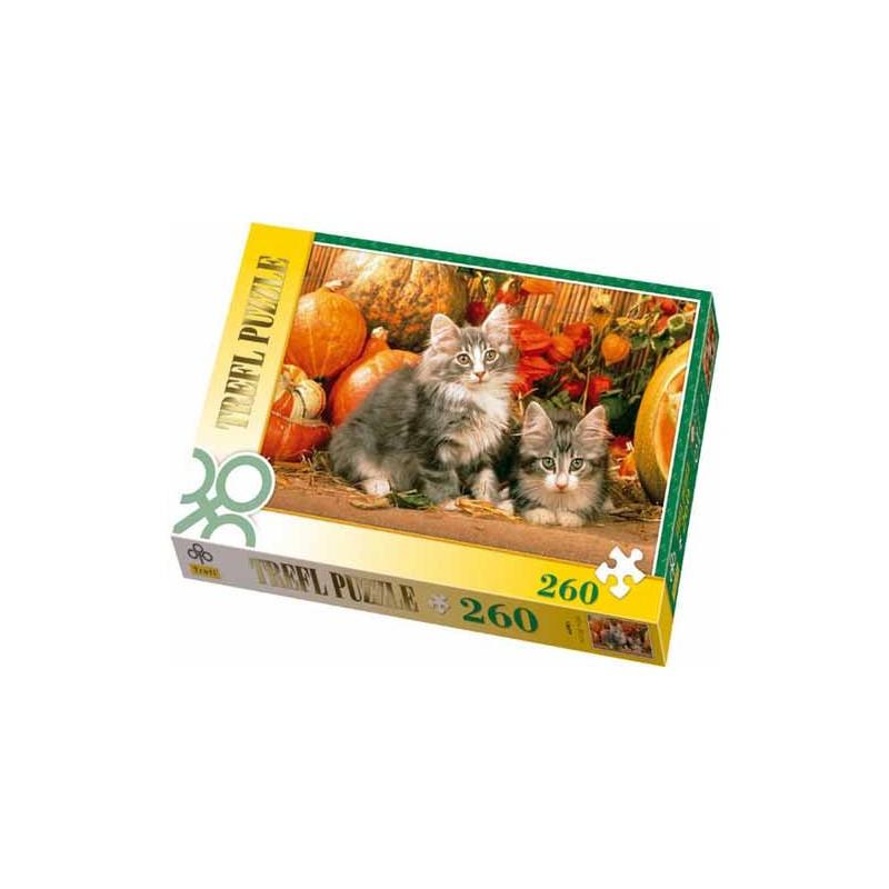13077. Puzzle Trefl 260 piezas Gatos Noruegos