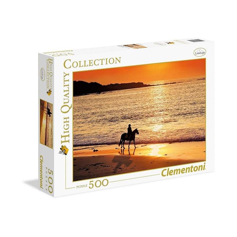 Clementoni 30475. Puzzle 500 Piezas Paseo al Atardecer