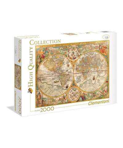 Clementoni 32557. Puzzle 2000 Piezas Mapamundi Antiguo
