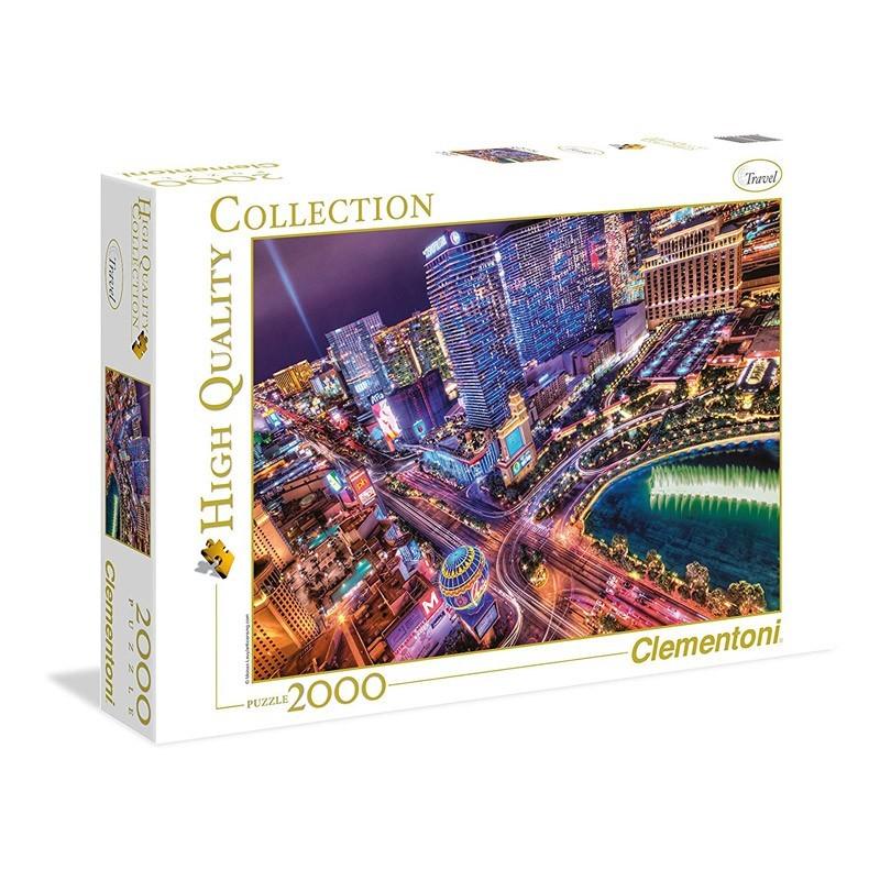 Clementoni 32555. Puzzle 2000 Piezas Las Vegas