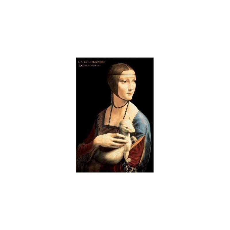 """20005. Puzzle Trefl 500pzas La dama del armiño,Da Vinci """"Madera"""""""