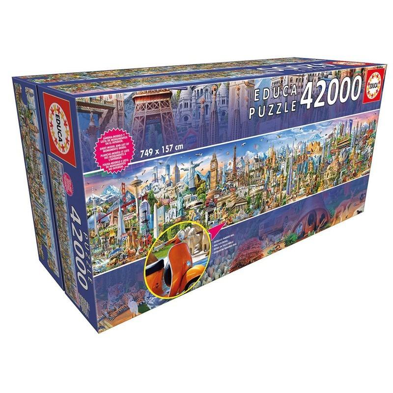 Educa 17570. Puzzle 42000 Piezas La vuelta al mundo