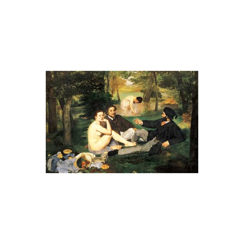 "20006. Puzzle Trefl 500pzs Almuerzo sobre hierba,Manet ""Madera"""
