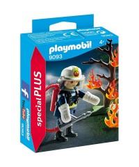 Playmobil 9093. Bombero Árbol en Llamas