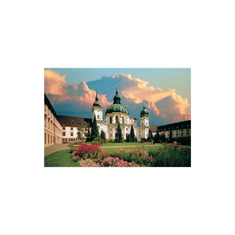 37029. Puzzle Trefl 500 piezas Abadía Ettal, Alemania
