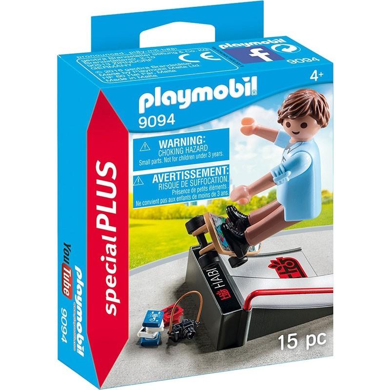 Playmobil 9094. Chico Skater con Rampa