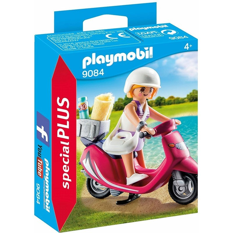 Playmobil 9084. Mujer con Scooter
