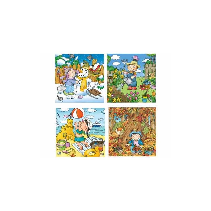 36102. Puzzle Trefl Junior 4x12 piezas, Las 4 estaciones