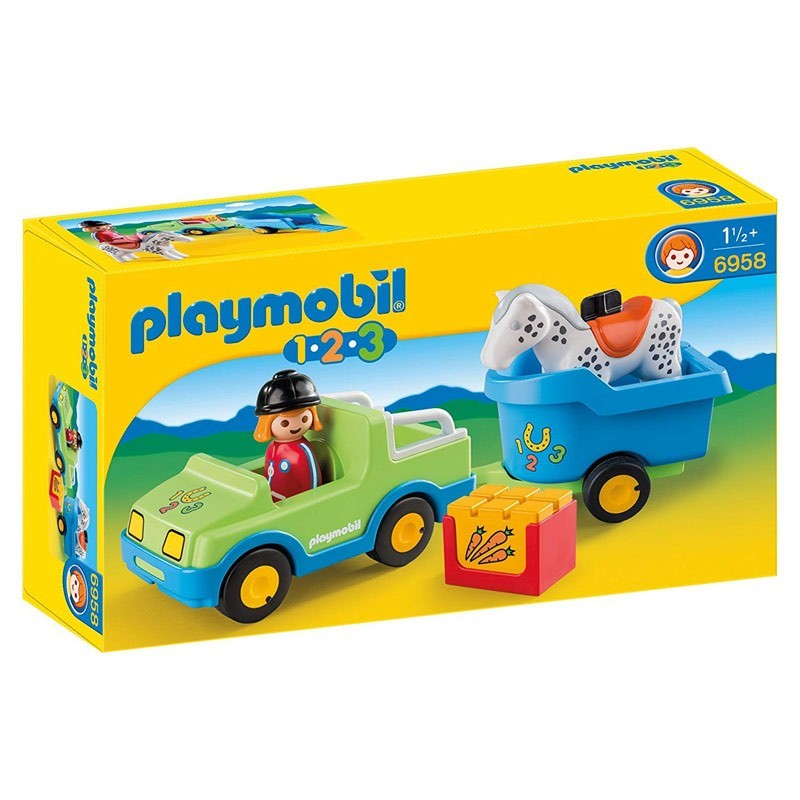 Playmobil 6958. Coche con Remolque