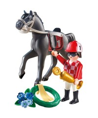 Playmobil 9261. Jockey de Carreras