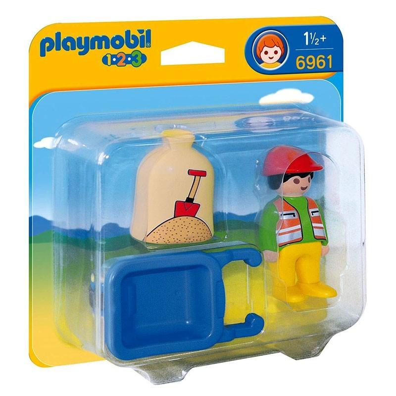 Playmobil 6961. Trabajador con Carretilla