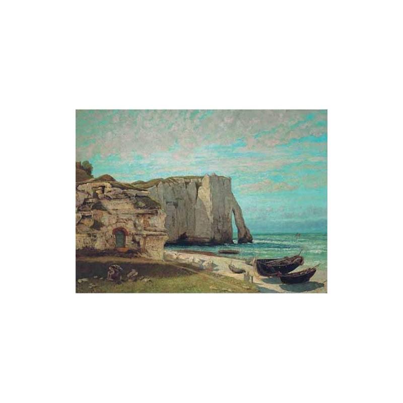 16001. Puzzle Ricordi Arte 1000 piezas Costa de Etrat, Courbet