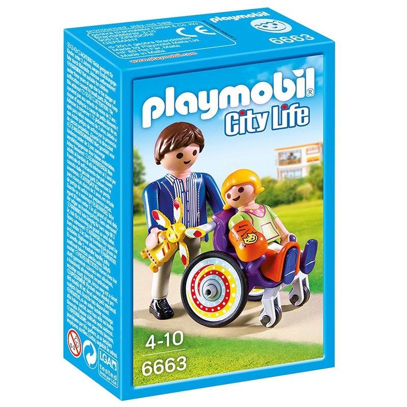 Playmobil 6663. Niña en Silla de Ruedas