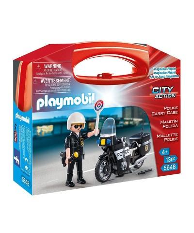 Playmobil 5648. Maletín Policía en Moto