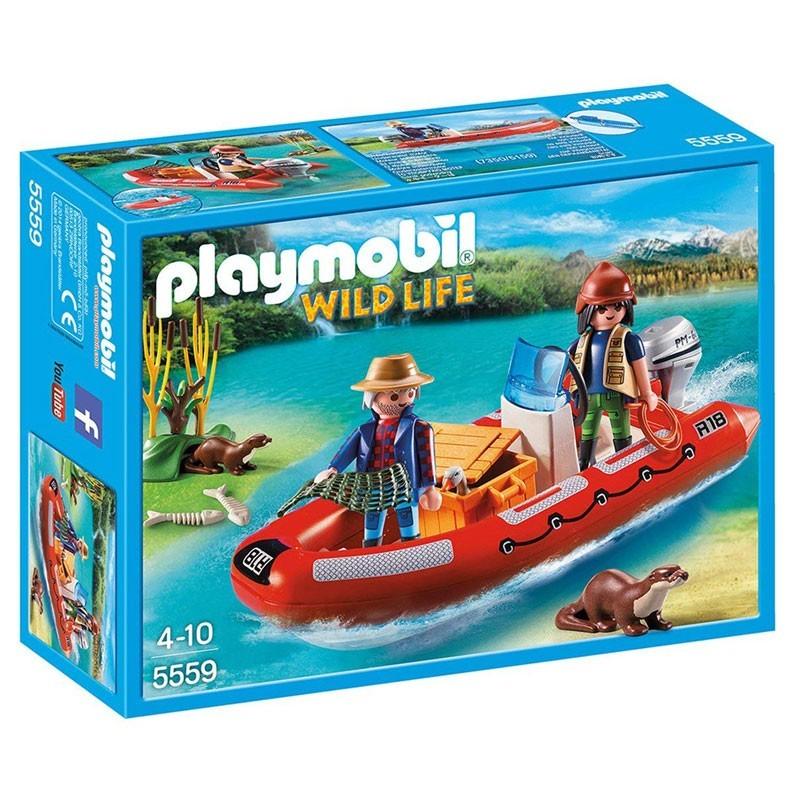 Playmobil 5559. Bote Hinchable y Exploradores