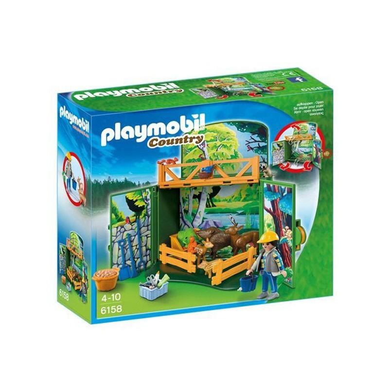 Playmobil 6158. Cofre Cuidador Animales del Bosque