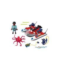 Playmobil 9387. Zeddemore con Moto de Agua
