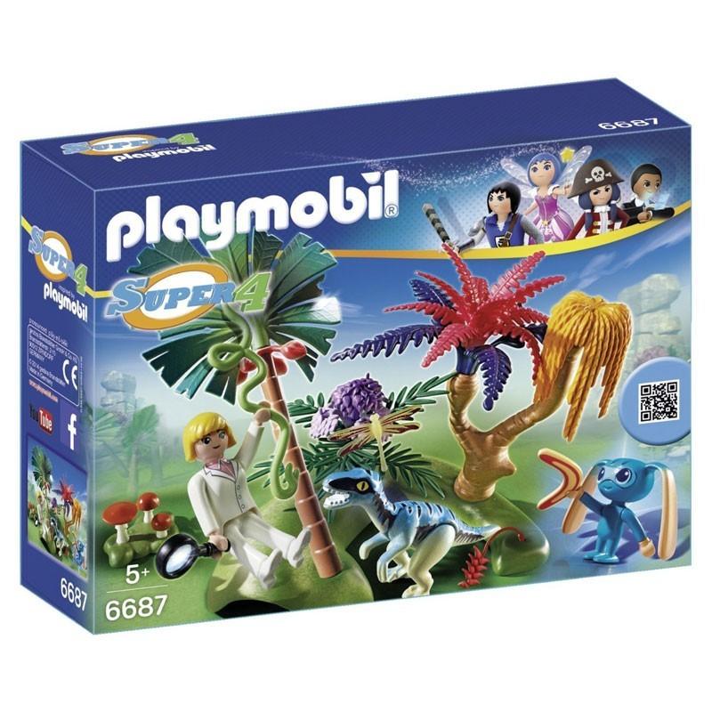 Playmobil 6687. Isla perdida con Alien y Raptor