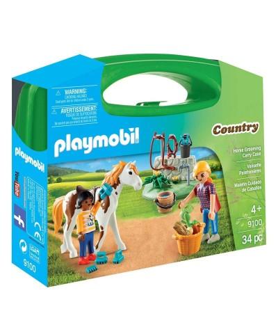 Playmobil 9100. Maletín Grande Cuidado de Caballos
