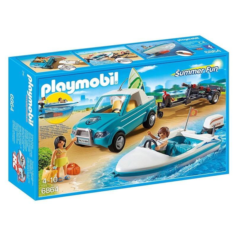 Playmobil 6864. Pick Up con Lancha